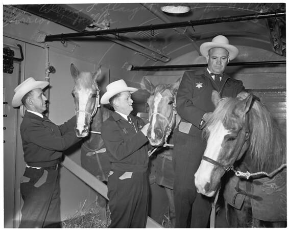 Long Beach mounted patrol, 1953