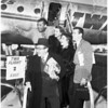 Hollywood Coordinating Committee stars leaving for Eisenhower inauguration, 1953