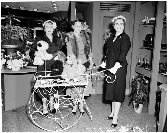 Detail 2 of 2, Carmelite Nuns fashion show planning, 1955