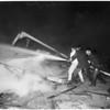 Columbia Studio farm fire in Burbank, 1953