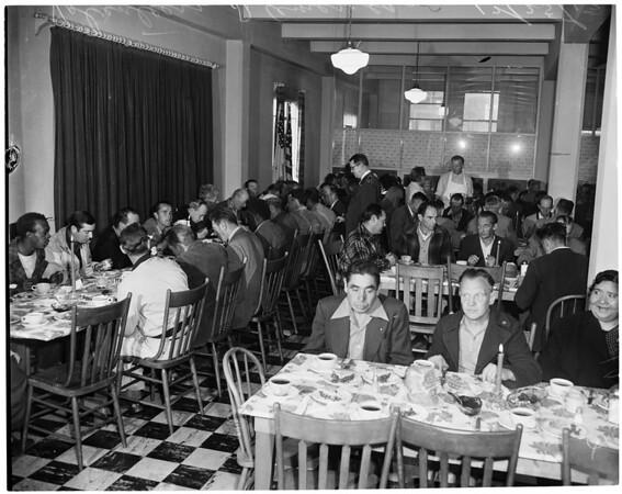 Volunteers of America Christmas dinner, 1953