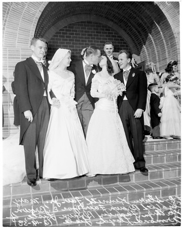 Joe E. Brown's daughters married, 1953