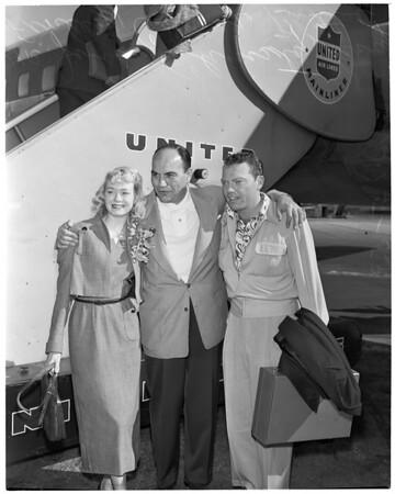 En route to Korea, 1953