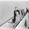 Detail 4 of 4, Vice President Nixon's mother returns to Los Angeles, 1960