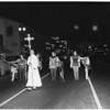 Christmas, Santa Monica nativity parade down Wilshire Boulevard, 1953