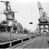 Detail 1 of 2, Damaged destroyers being repaired, 1960
