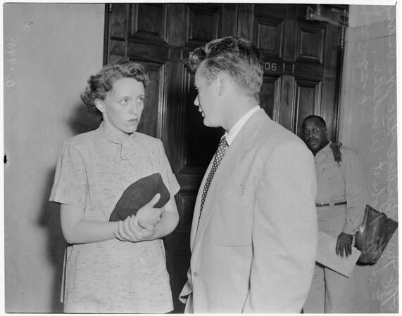 Traffic death trial, 1954