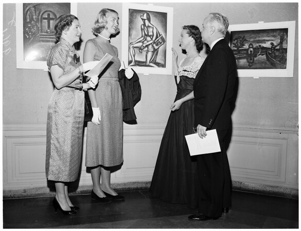 Rouault art exhibit at Los Angeles County Museum, 1953