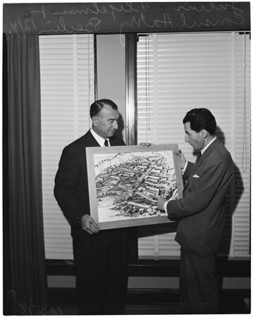 Artist's sketch of new Building for Technion School, 1953