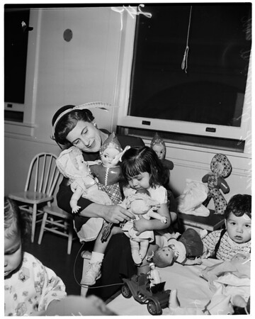 Juvenile Hall doll party, 1953