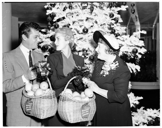 """Golden Apples"" award by Women's Press Club of Hollywood, 1953"