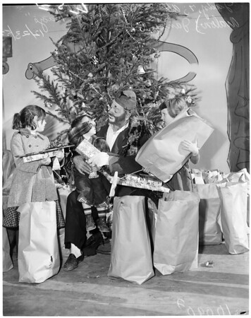 Saints and Sinners Christmas party, 1953