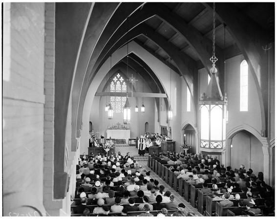 New church dedication (Hermosa Beach), 1953