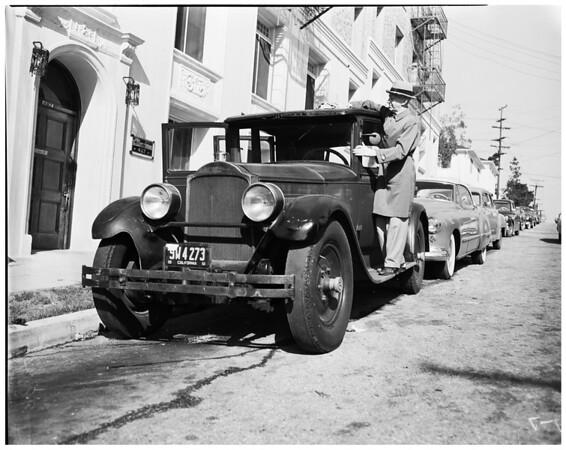 Original owner of 1927 Packard, 1953