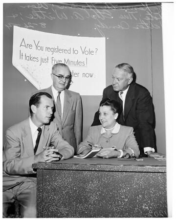 Registration, 1954