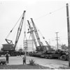 Big electric transformer moved, 1953