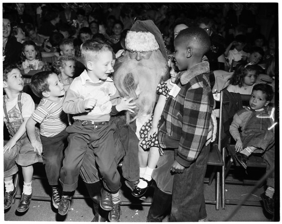 Friers' [sic] Christmas party, 1953