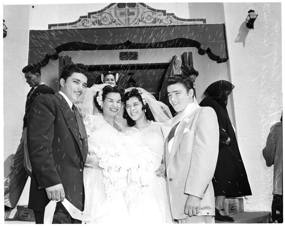 Brothers -- sisters wedding, 1953