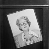 Ethel Milne Gilmore (copy picture), and morgue shot, 1953