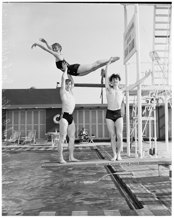 Sadler's Wells Ballet -- at Ambassador pool, 1953