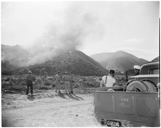 Detail 16 of 17, Fire at Dry Canyon 3 miles North East of Saugus, 1953