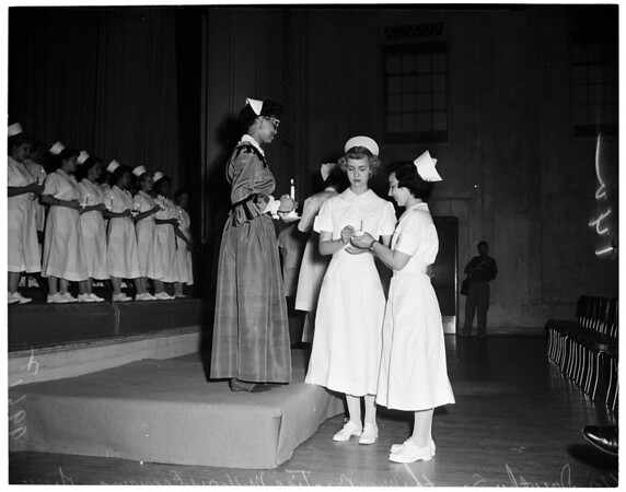 Nurse capping at General Hospital, 1953