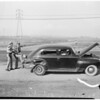 Detail 1 of 4, California Highway Patrol traffic road check, 1952