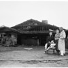 Harvey Knox home fire at Zuma Beach, 1958