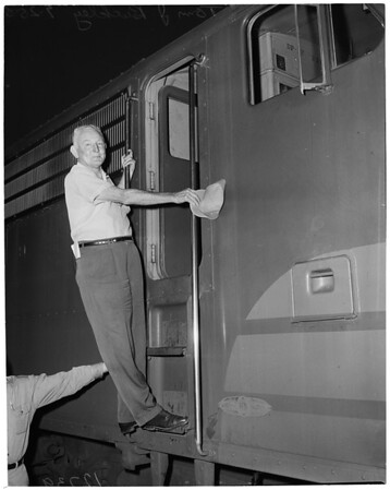 Southern Pacific engineer's last run, 1959