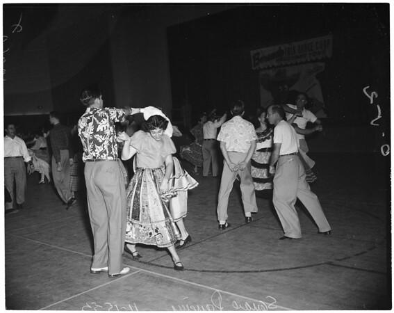 Detail 2 of 6, Folk dances, 1953