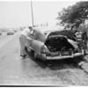 Auto fire (Santa Ana Freeway near 1st Street outbound), 1954