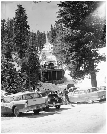 Snow on Angeles Crest Highway, 1959