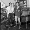 Two killed in freak accident (crane), Harbor at Berth 199, 1954