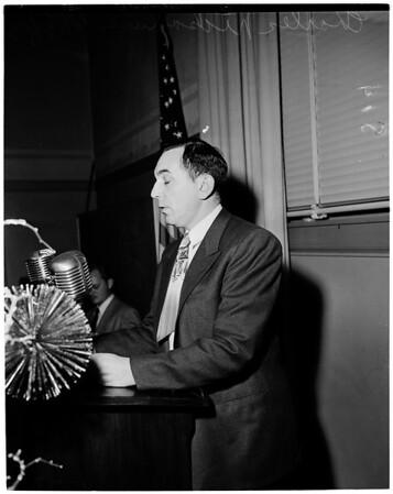Detail 15 of 17, School Board loyalty hearing, 1952