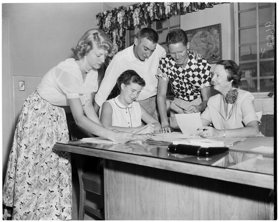 Detail 5 of 6, Mount San Antonio College freshman day, 1952