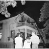 House fire on Magnolia Avenue, 1953
