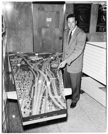 Model of freeway, 1958