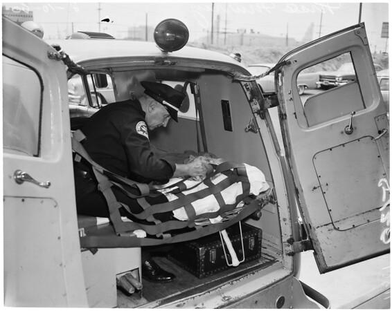 Mae Murray in hospital, 1960