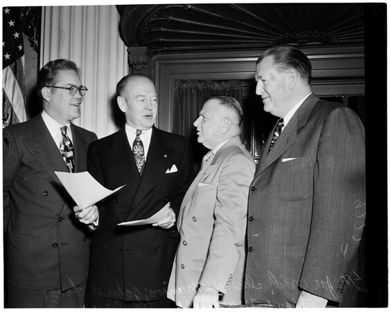 Detail 1 of 2, Bill of Rights Committee press luncheon, 1952