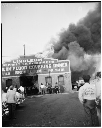 Detail 18 of 19, Fire at Pico Boulevard and Broadway, 1954
