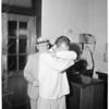 Rape and burglary suspect in jail, 1960