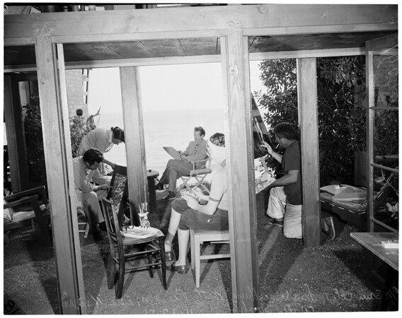 Malibu Art Exhibit (Malibu Inn), 1953