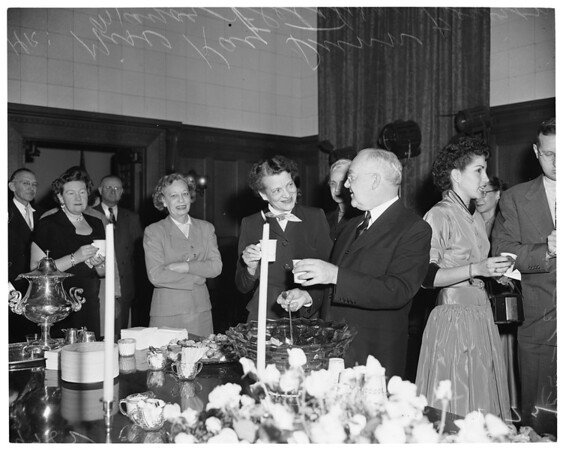 Mayor's reception for employees, 1952