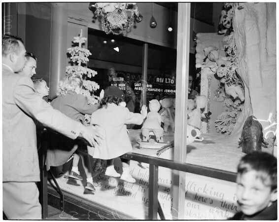 Detail 3 of 7, Downtown Christmas windows, 1953