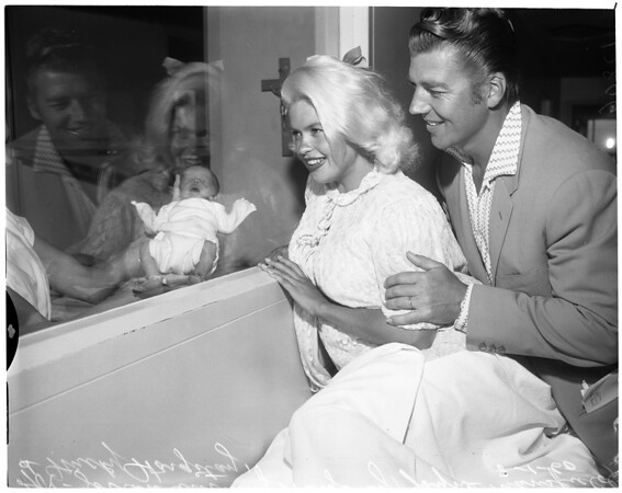 Detail 2 of 2, Jayne Mansfield and new baby, 1960