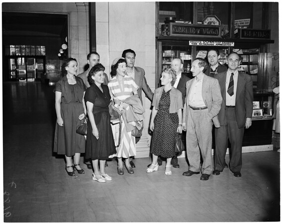 Los Angeles communists released from jail, 1952