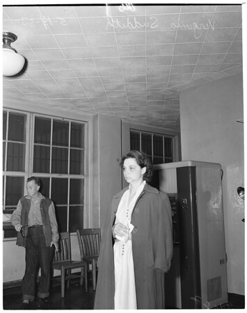 Arson suspect in Central jail, 1953