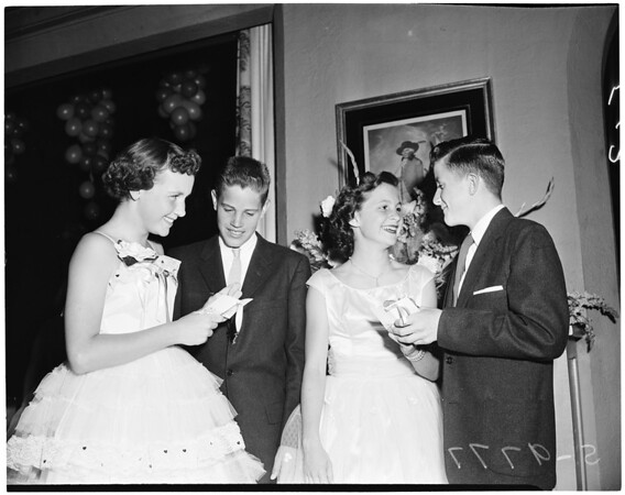 Detail 3 of 3, Wilshire Country Club Cinderella dance, 1955