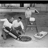 Sewer photo team (Manhattan Beach), 1959