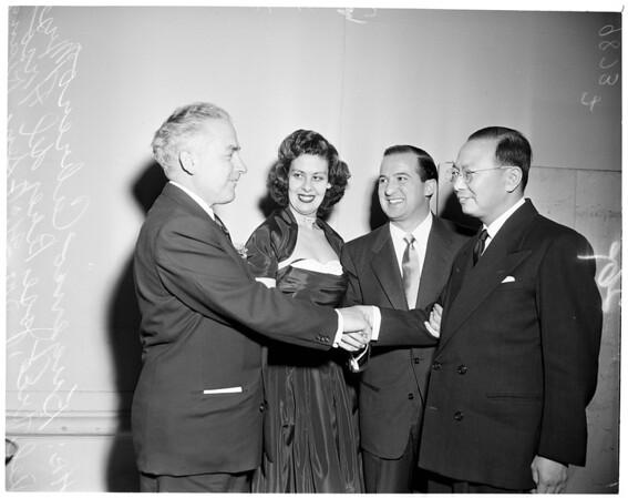 Farewell banquet for Jose Perez del Arco, 1953